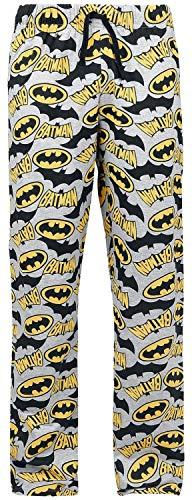 TruffleShuffle Mens Batman Logo Lounge Pants Grey ()