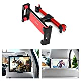 pzoz Car Tablet Headrest Mount Holder Universal Backseat Portable DVD Player Kids for Nintendo Switch Apple iPad Pro Air Mini 1 2 3 4 Kindle Fire HD 7 8 10 Samsung Galaxy Tab 4.7-12.9 inch(New Red)