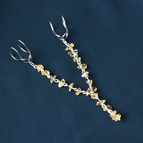 Citrine Chain Labien | Intimate Jewelry | Labia Majora Clips | Non Piercing Lip Clips | Stainless Steel and Gemstones