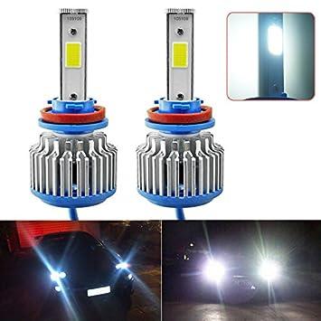 Faros delanteros LED para coche FEELDO Bright 9005/HB3 6000 K 48 W 5200 lúmenes, COB chips faros antiniebla para coche, xenón: Amazon.es: Coche y moto