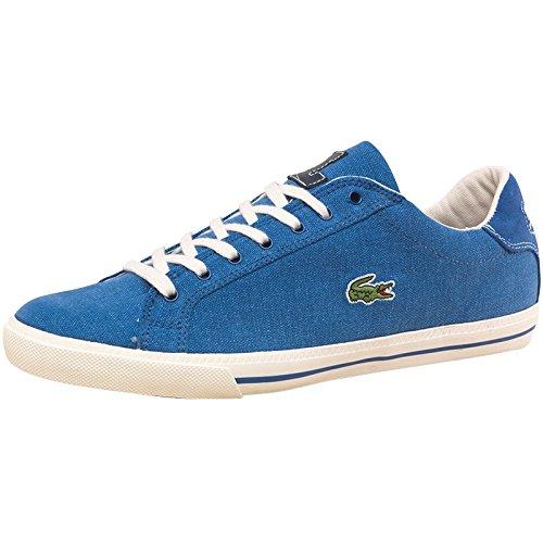 402fdb34e596af Graduate Blue White Blue White Lacoste Mens Graduate Canvas Vulc Trainers  Blue White  Amazon.co.uk  Shoes   Bags