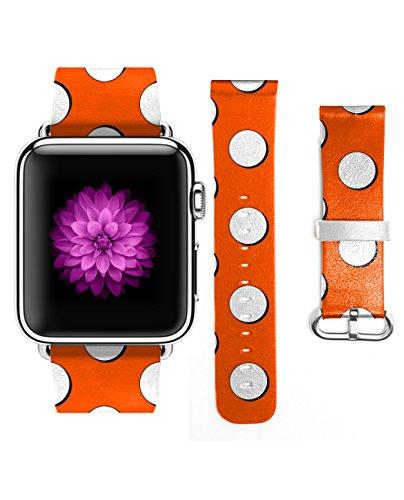 Apple iWatch Genuine Leather Orange product image