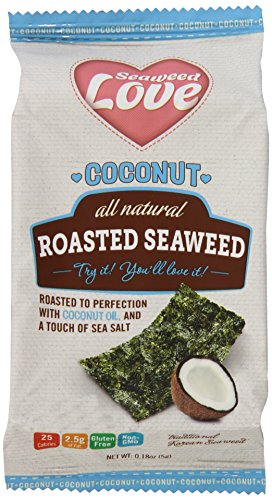 Roasted Seaweed (Coconut All Natural Roasted Seaweed, 0.18 Ounce (Pack of 12))