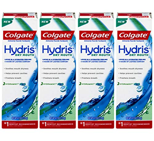 Colgate Anticavity Fluoride Toothpaste Hydris Dry Mouth, 4.2 Ounce (Pack of 4)