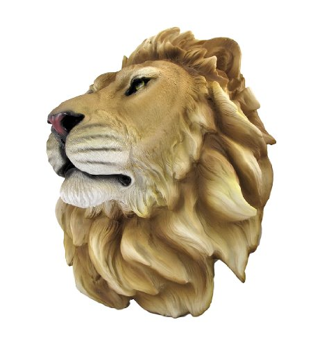 Resin Sculpture African Lion Head Figure Wall Art Statue