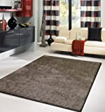 On Sale! Lurex Shag Collection, 2 Tone Brown Solid Area Rug, Hand Tufted, Approximate Size ~8ft X 11ft (230 X 310cm), on Sale! Review
