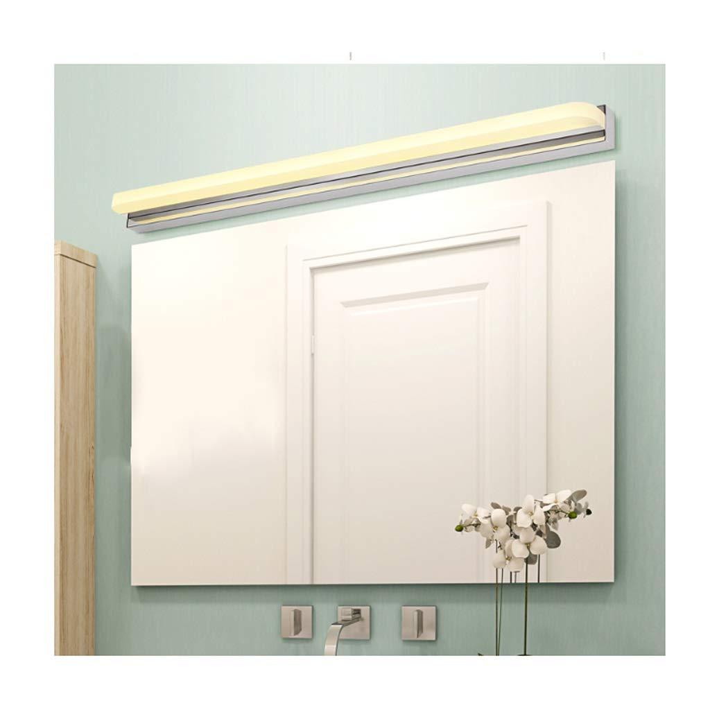 Warm Light-72cm(16w)  Spiegelscheinwerfer Spiegel Scheinwerfer-LED Anti-fog Badezimmerspiegel Wandleuchte Schlanke minimalistische moderne Spiegelschrank Licht LED (Edition   Warm light-72cm(16W))