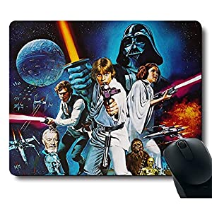 Awesome Classic Movie Brave Warrior Black Mouse Pad Customized Rectangle Black Gaming Mousepad