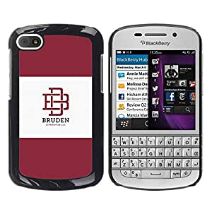 Slim Design Hard PC/Aluminum Shell Case Cover for BlackBerry Q10 university brand maroon logo student / JUSTGO PHONE PROTECTOR