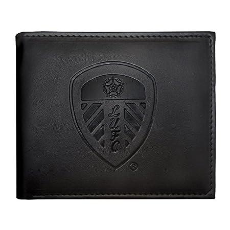 Leeds United AFC Official Football Gift Embossed Crest Wallet Black 519tQRvPisL