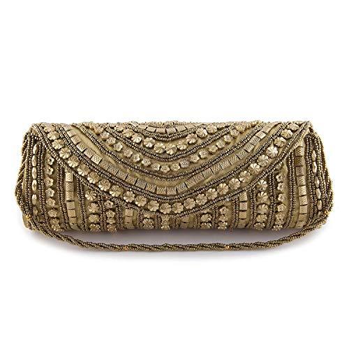 Filora Women's Ethnic Rajasthani Silk Potli Bag Potli Purse clutch for women Combo of Potli and Clutch