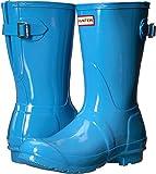 Hunter Women's Original Back Adjustable Short Gloss Rain Boots Forget Me Not 7 M US