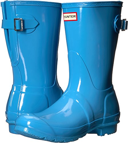 Hunter Women's Original Back Adjustable Short Gloss Rain Boots Forget Me Not 7 M US by Hunter