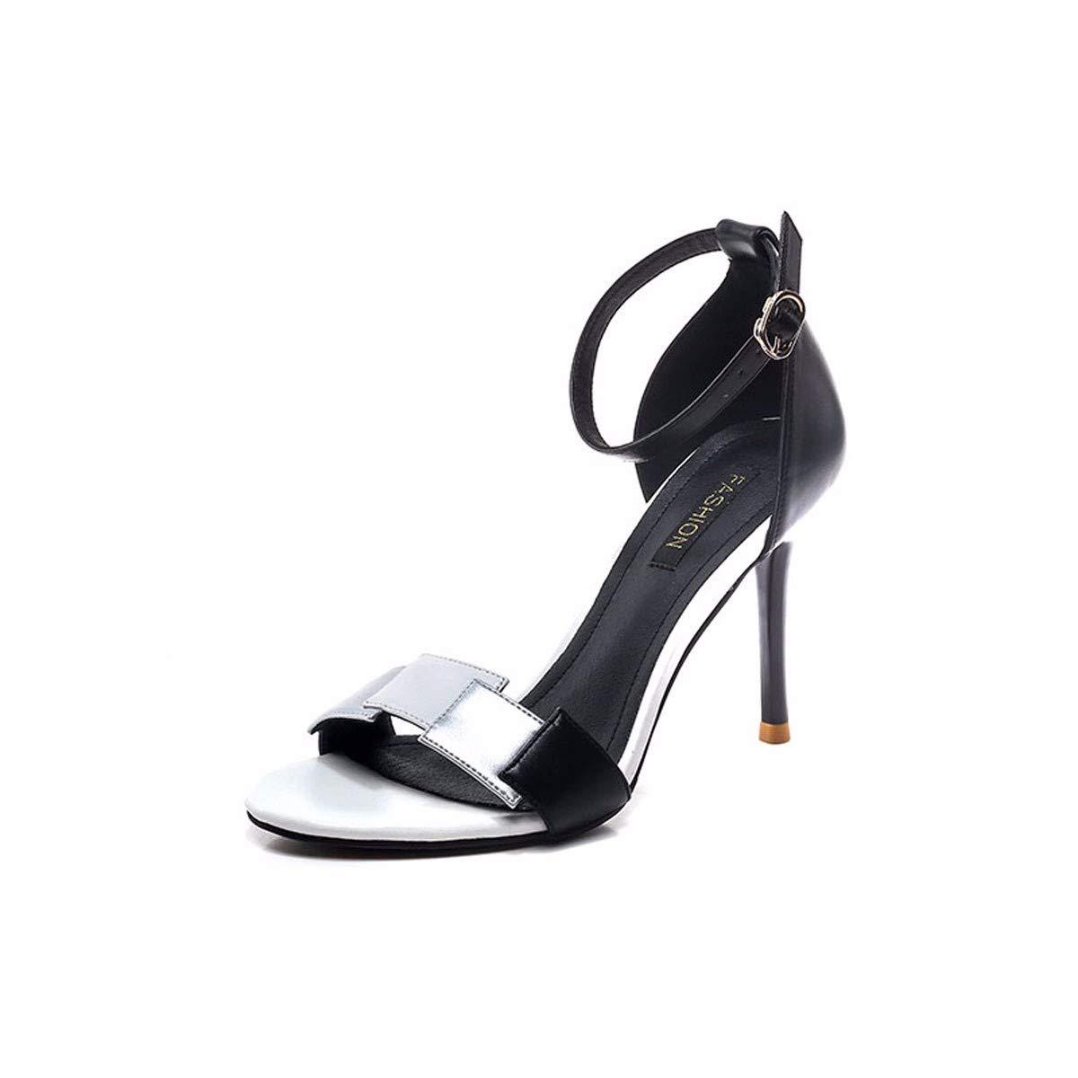GTVERNH Frauen Schuhe/9Cm High Heels Sandaleen Schöne Sommer Heels Vorrichtungen Temperament Farbe Schnalle Frauen Schuhe Sandaleen.