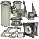 6 wood stove pipe double wall - Shasta Vent
