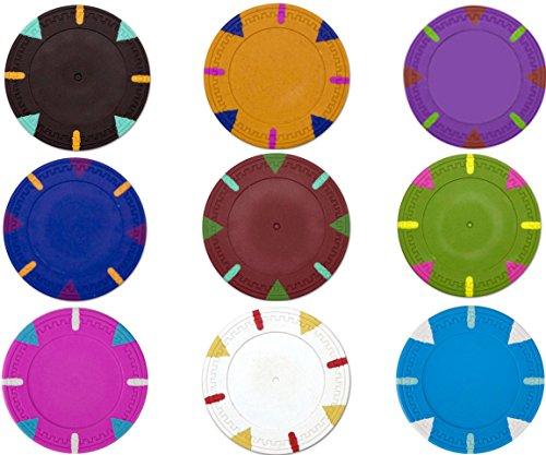 1000 Triangle & Stick Claysmith Blank 14gm Bulk Clay Poker Chips - Choose (Cane Blank)