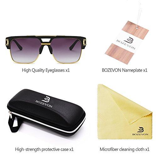 Mujeres UV400 para Hombre BOZEVON sol de Personalidad 05 Gafas libre Vendimia la Delicada de Estilo al de Unisex aire las 1qwT7Pw