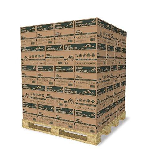 BOISE ASPEN 30 MULTI-USE RECYCLED COPY PAPER, 8 1/2'' x 11'', Letter, 92 Bright White, 20 lb., 5000 Sheets/Carton, 40 Cartons/Pallet