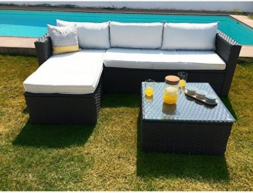 KieferGarden Arizona Sofa Chaise Longue de Exterior y Mesa: Amazon.es: Jardín