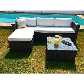 KieferGarden ARIZONA sofa Chaise Longue de exterior y mesa: Amazon ...