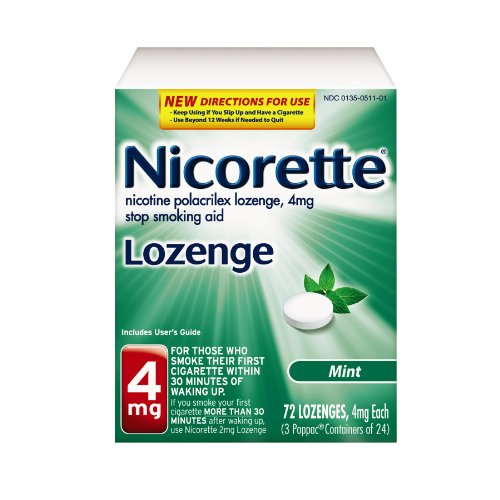 Nicorette Nicotine Lozenge to Stop Smoking, 4mg, Mint, 72 Count