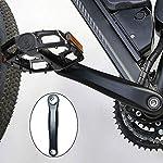 LLMZ-Braccio-manovella-Bicicletta-1-PCS-Pedivella-Sinistra-per-Bici-per-MTB-Bici-da-Strada-Nera-175mm