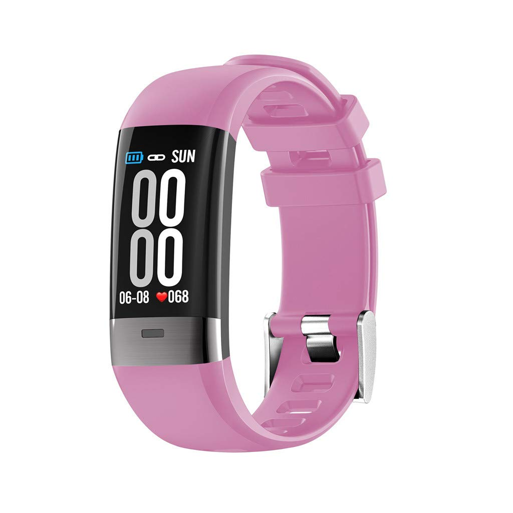 Fitness Tracker Uhr Wasserdicht Blutdruckmesser Farbbildschirm GPS Aktivit/ätstracker Stoppuhr Schrittzaehler Schlaf/überwachung f/ür Kinder Damen Herren Clacce G36 Fitness Armband mit Pulsmesser