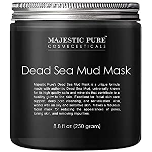 MAJESTIC PURE Dead Sea Mud Mask - Natural Face and Skin Care for Women and Men - Best Black Facial Cleansing Clay for… 4