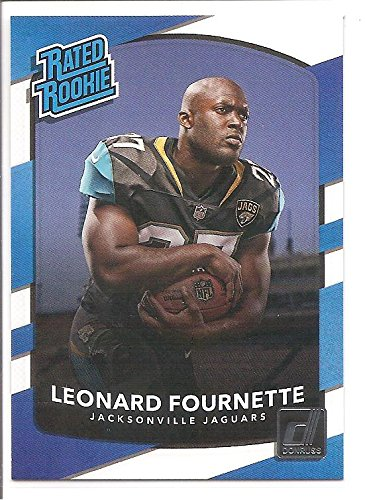 Leonard Fournette Jacksonville Jaguars 2017 Donruss Rated Rookie Football Card  319