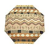 WIHVE Africa Art Umbrella Auto Open Close Windproof Compact