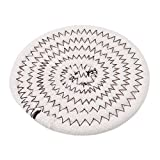 GUAngqi Japanese-style Creative Cotton Thread Hand-Woven Coasters Placemat Durable Heat-Insulation Pad ,Coffee color