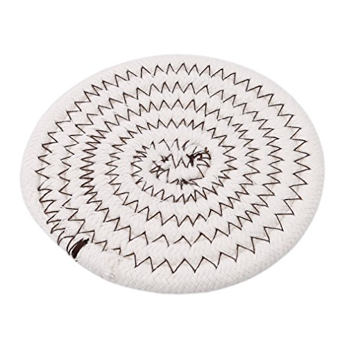 GUAngqi Japanese-style Creative Cotton Thread Hand-Woven Coasters Placemat Durable Heat-Insulation Pad ,Coffee color by GUAngqi (Image #1)