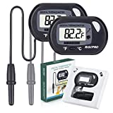 RISEPRO Aquarium Thermometer, 2 Pack Digital Water Thermometer Fish Tank Aquarium Marine Temperature Vivarium Reptile Terrarium