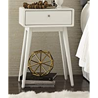 Elle Decor Rory One Drawer Side Table, French White