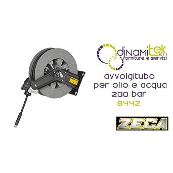 8442 Portamanguera Serie 8400 para aceite y agua 200 bar Zeca Tubo Negro MT 15