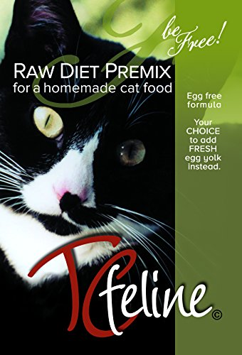 TCfeline RAW Cat Food Premix / Supplement to make a Homemade, All Natural, Grain Free, Holistic Diet – Original Version with No Liver (Regular 17 oz) ''Egg Free Formula'' by The Total Cat Store