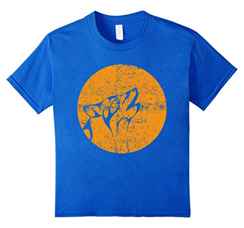 Kids Funny Proud Wolf On The Moon Halloween Party Gift T-shirts 4 Royal Blue