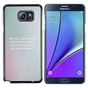 SKCASE Center / Funda Carcasa protectora - Mensaje Gris - Samsung Galaxy Note 5