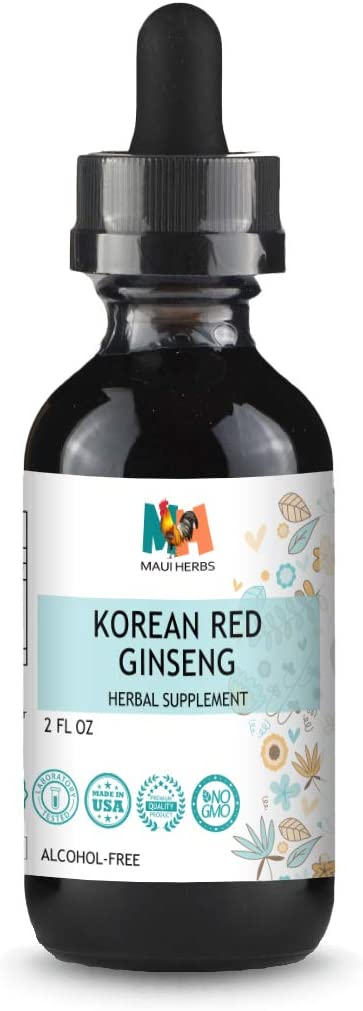 Ginseng Tincture Alcohol-Free Liquid Extract, Korean Red Ginseng Root Panax Ginseng 2 fl oz