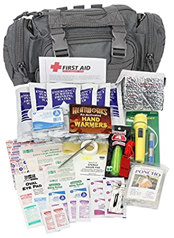 Camillus First Aid 3 Day Survival Kit with Emergency Food and Water, Black (73 Piece Kit) - 3 Day Emergency Survival Kit