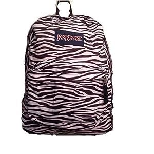 JanSport T501 SuperBreak Backpack (Black and White Zebra Stripe)