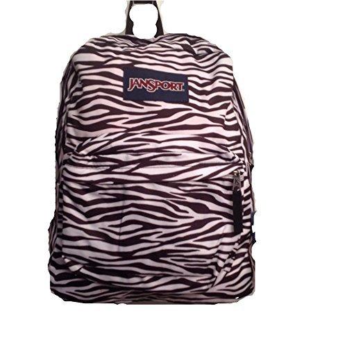 JanSport Superbreak Backpack - Durable for School & Travel, with Padded Shoulder Straps - (Black/White Zebra Stripe) -
