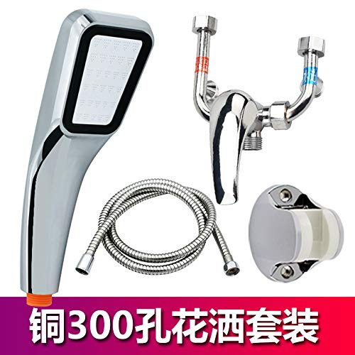 G redOOY Mixing valve mounted stainless steel mixing valve shower kitchen shower double hole, alloy mixing valve set B