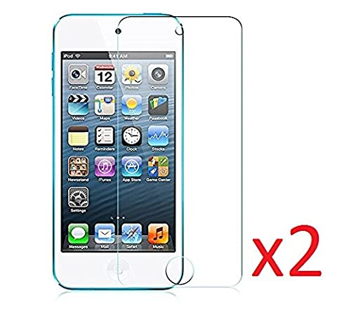 eTECH Collection 2 pieces of Premium Tempered Glass Screen Protector for Apple iPod Touch 4th Generation (0.3mm) 9H Hardness with Oleophobic Coating Bubble Free - Crystal Clear - Scratch (Ipod 4 Screen Glass)