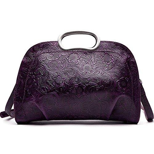 AJLBT Pour Femme Ethnique Rétro Purple Messager Style Rencontres épaule Sac Sac Mode Sac Tendance Sac Une à Main à Main De IwtqtSr