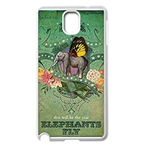 [elephant design] his will be the year elephants fly Case For Samsung Galaxy Note 3 {White}