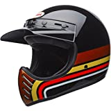 Bell Moto-3 Full-Face  Motorcycle Helmet (Stripes Black/Orange, Large)(Non-Current Graphic)