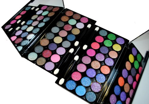 Glitter Eyeshadow Diamond Dust Professional Grade 48 Color Day & Night Eyeshadow 2 Palette Set