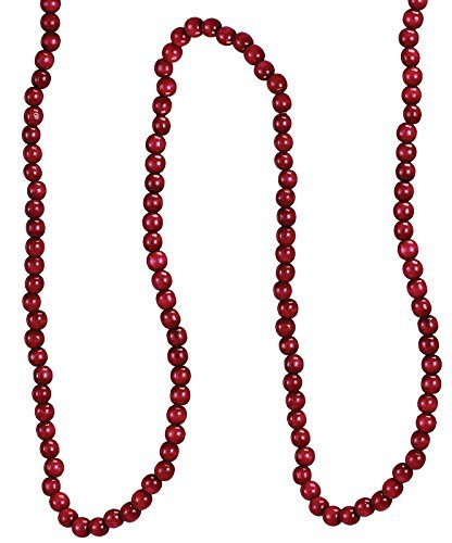 Popcorn Garland Cranberry - Kurt Adler Red Wooden Cranberry Garland [TN0066/BURG]