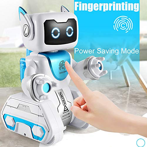 AMOFINY Baby Toys Smart Pet Robot Smart Pet Dog Voice-Activated Touch Recording Interactive Smart Puppy Robotic Dog Led Eyes Sound Recording Sing Sleep Cute Toy ()